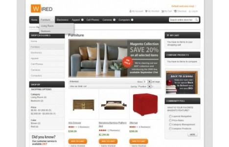 Hello Wired Magento Theme