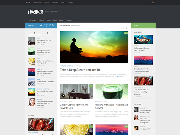Hueman — Free Responsive WordPress Theme