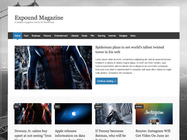 Expound — Free Magazine Theme