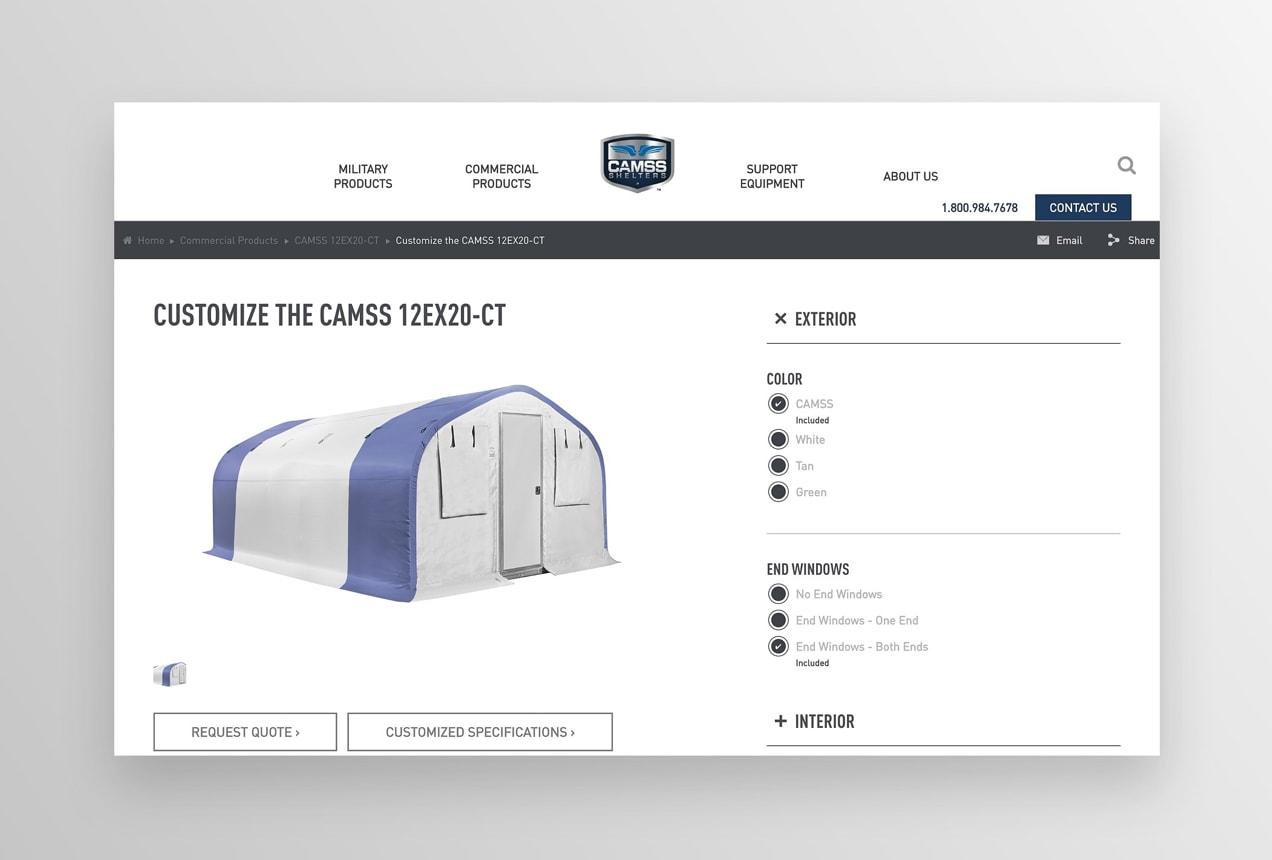 CAMSS custom options like windows and colors