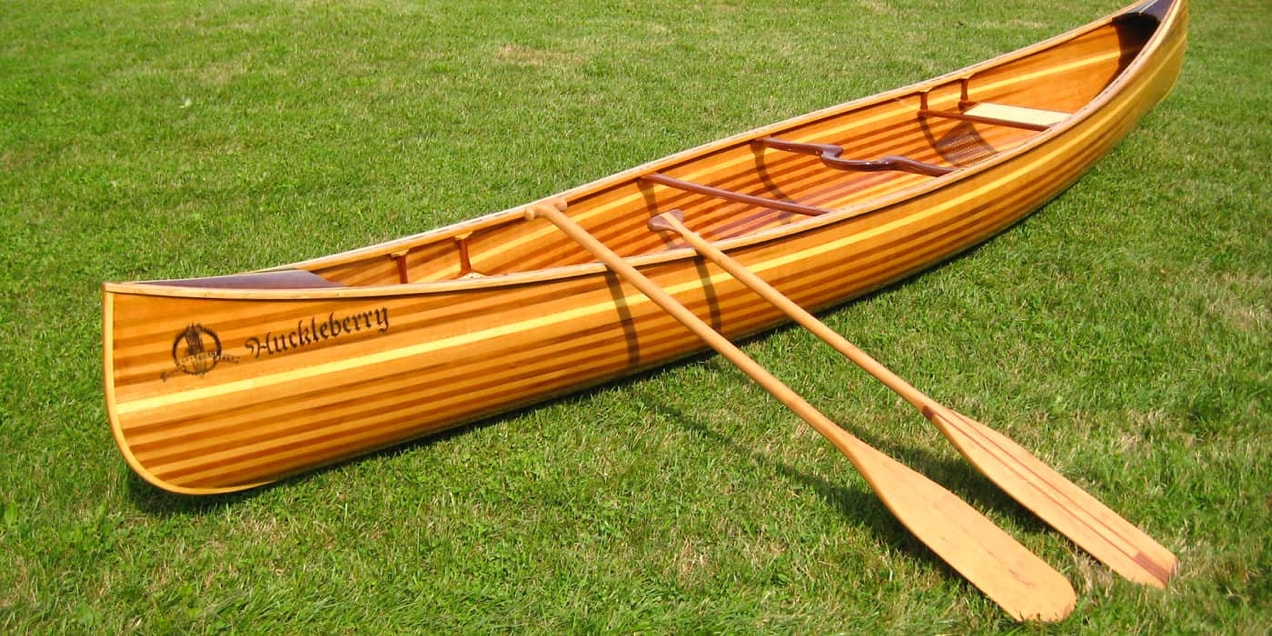 handcrafted wooden canoe from Offerman Woodshop