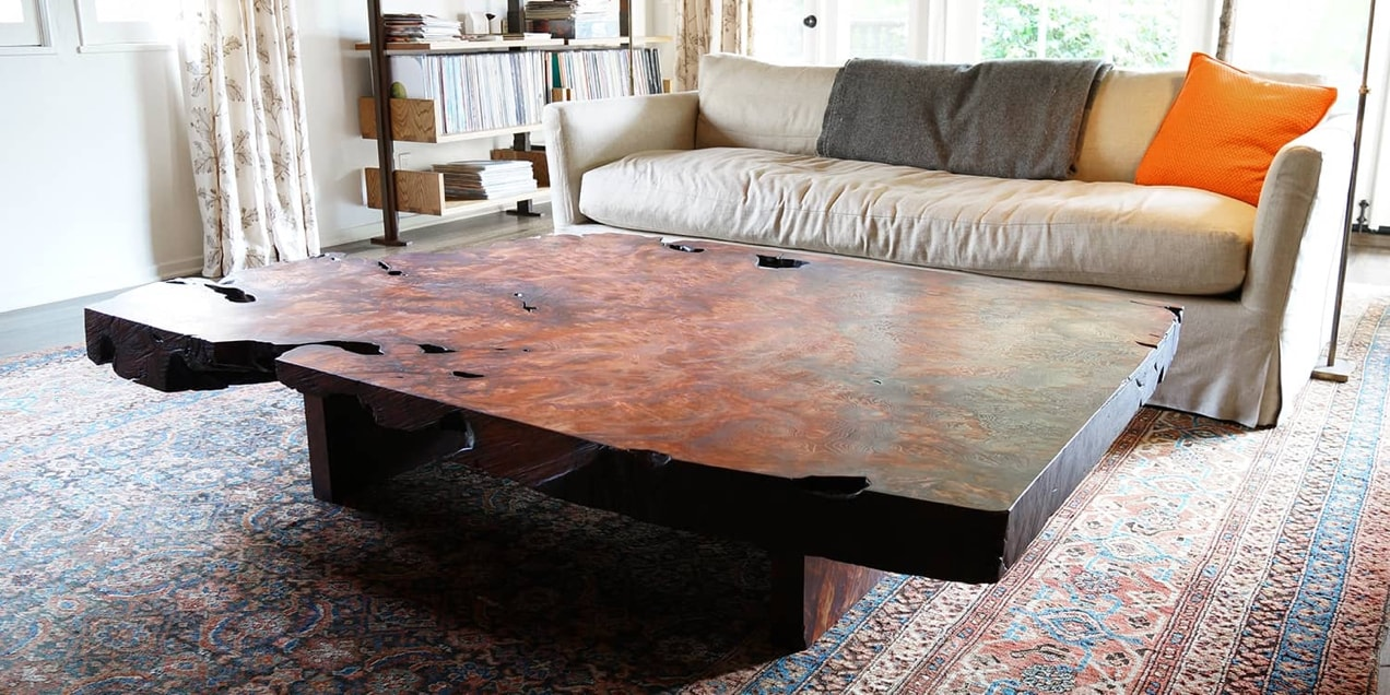 handcrafted wood table from Offerman Woodshop