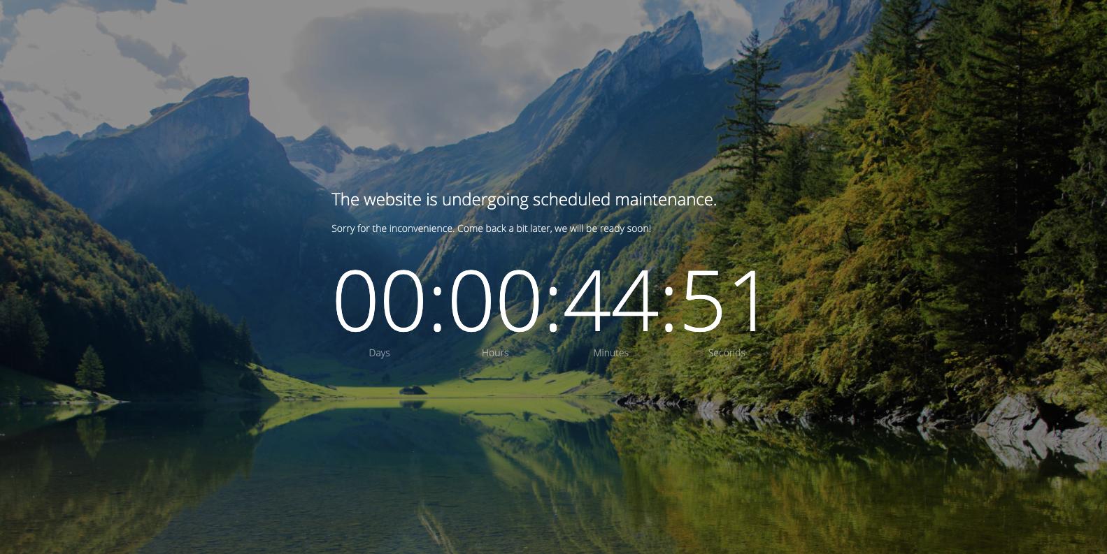 WordPress Toolkit maintenance mode preview