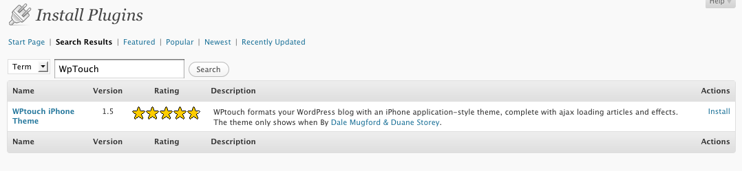wordpress site iphone friendly