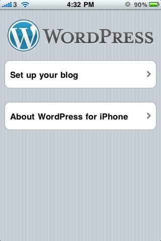 iPhone WordPress App