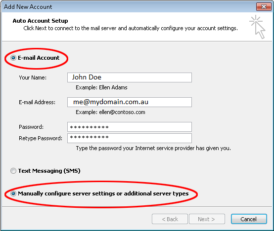 Outlook 2010 Email Configuration